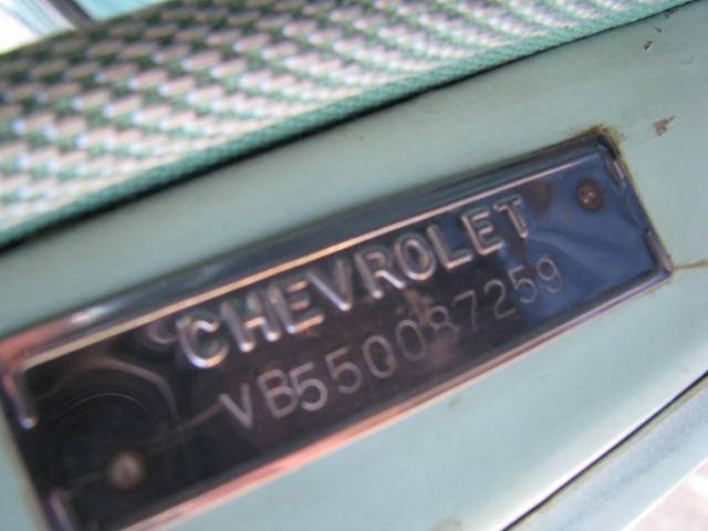 Chevy on Vin Number Location