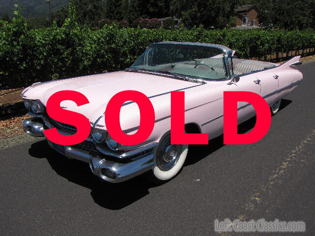 1959 Pink Cadillac Convertible Parade Car For Sale