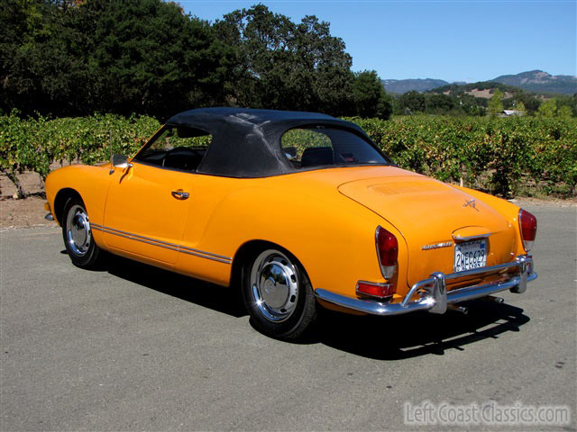 purchase used 1971 volkswagen karmann ghia convertible 2 owner california car since new low in. Black Bedroom Furniture Sets. Home Design Ideas
